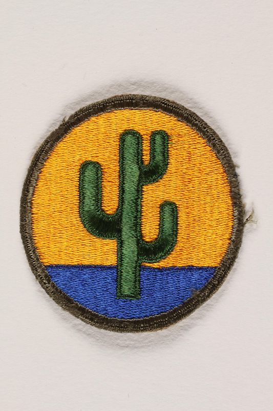 US Army 103rd Infantry Division shoulder sleeve patch with a green