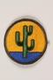 US Army 103rd Infantry Division shoulder sleeve patch with a green cactus on a yellow and blue field