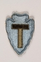 US Army 36th Infantry Division shoulder sleeve patch with a T monogram on a light blue field