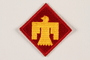US Army 45th Infantry Division shoulder sleeve patch with a gold Thunderbird on a red field