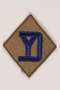 US Army 26th Infantry Division shoulder sleeve patch with a blue YD monogram