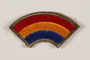 US Army 42nd Infantry Division shoulder sleeve patch with a red, yellow and blue rainbow