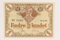 2008.83.2 front Danish occupation currency, 1 krone  Click to enlarge