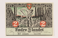 2008.83.3 front Danish occupation currency, 2 kroner  Click to enlarge