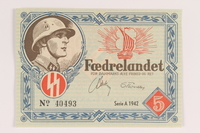 2008.83.4 front Danish occupation currency, 5 kroner  Click to enlarge