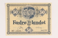 2008.83.5 front Danish occupation currency, 50 kroner  Click to enlarge