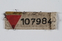 Prisoner patch with red triangle and number issued to a German Jewish prisoner