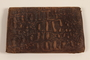 Embossed brown leather bi-fold wallet used by a soldier in the Jewish Brigade, British Army