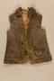 Sheepskin vest worn by a Jewish girl living in hiding
