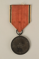 2008.201.2 back Medal and ribbon commemorating the 1938 Anschluss of Austria  Click to enlarge