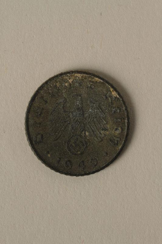 2008.201.3 front Nazi Germany, 5 reichspfennig coin
