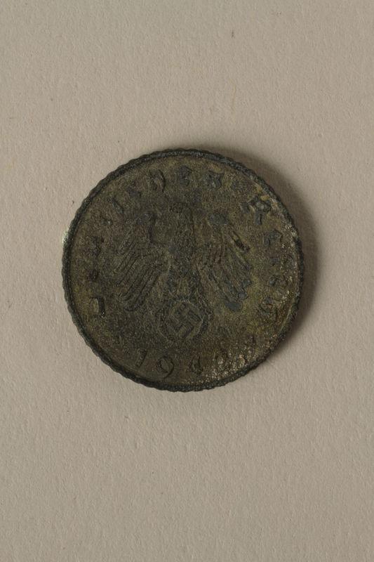 2008.201.4 front Nazi Germany, 5 reichspfennig coin