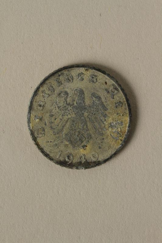 2008.201.5 front Nazi Germany, 5 reichspfennig coin