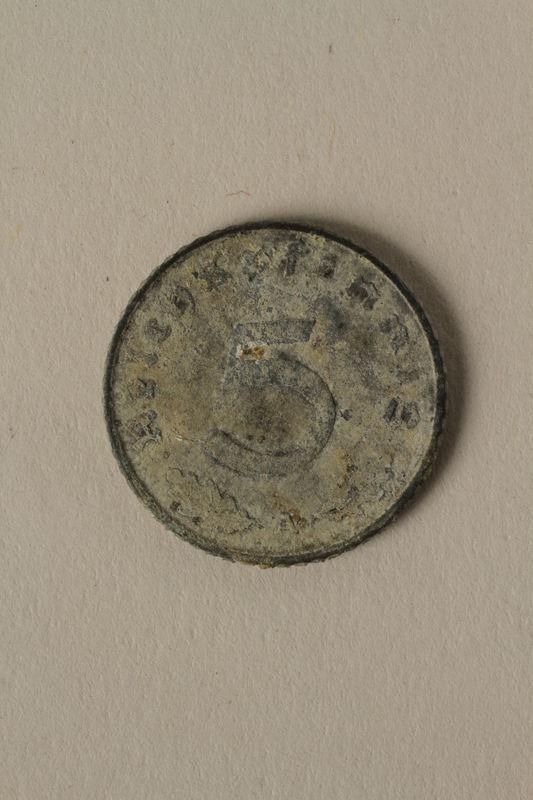 2008.201.5 back Nazi Germany, 5 reichspfennig coin
