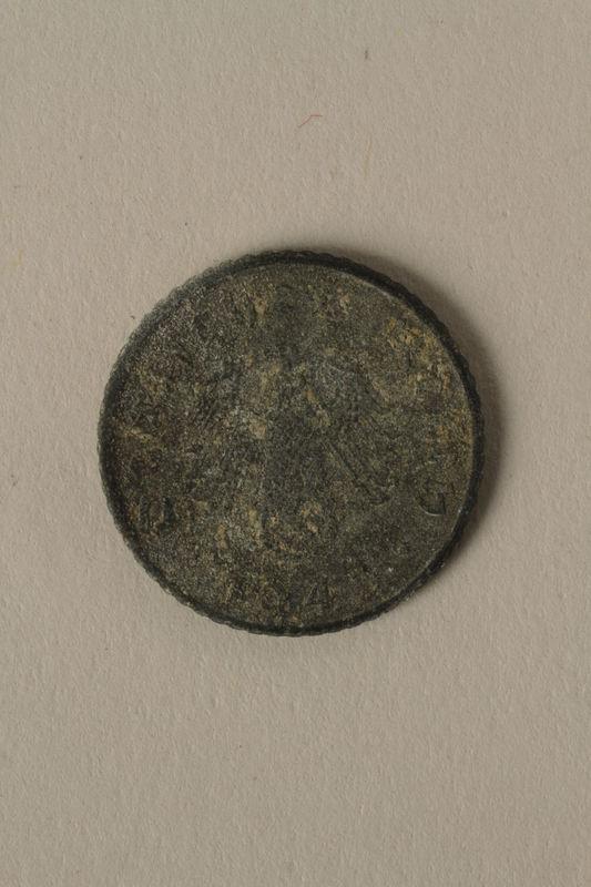 2008.201.6 front Nazi Germany, 5 reichspfennig coin