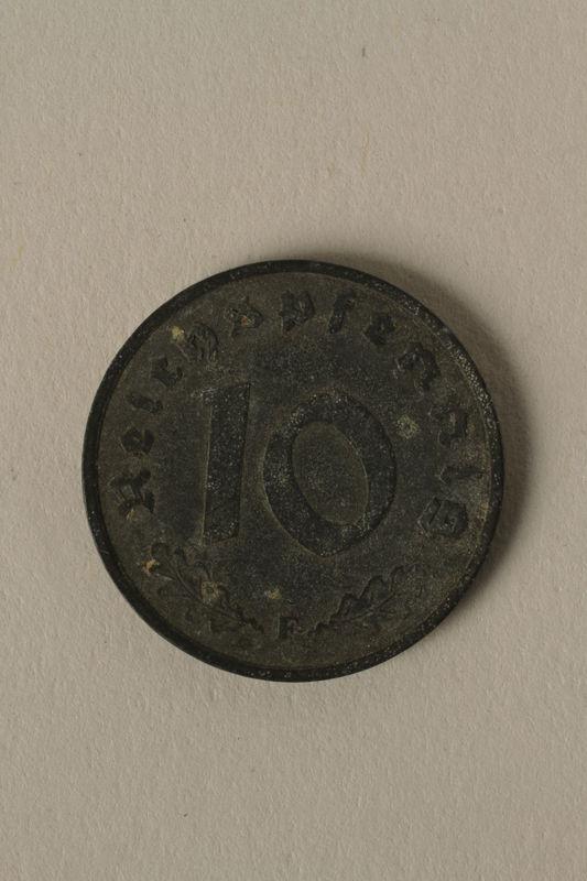 2008.201.7 back Nazi Germany, 10 reichspfennig coin