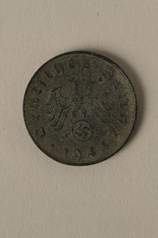 2008.201.8 front Nazi Germany, 10 reichspfennig coin