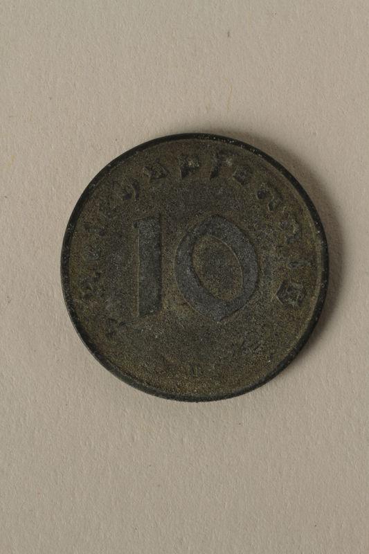2008.201.8 back Nazi Germany, 10 reichspfennig coin
