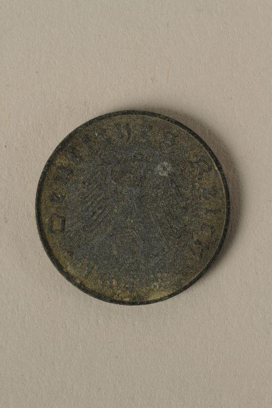 2008.201.9 front Nazi Germany, 10 reichspfennig coin