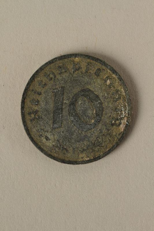2008.201.10 back Nazi Germany, 10 reichspfennig coin