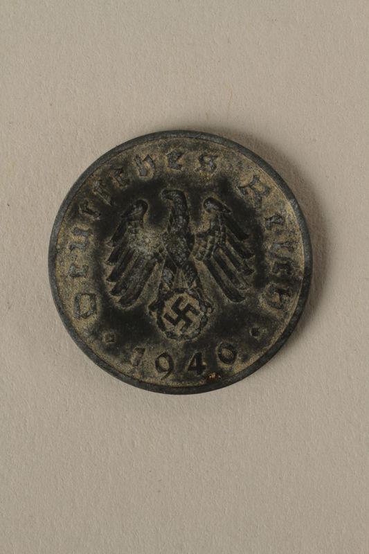 2008.201.11 front Nazi Germany, 10 reichspfennig coin