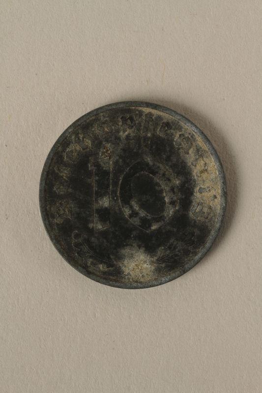 2008.201.11 back Nazi Germany, 10 reichspfennig coin