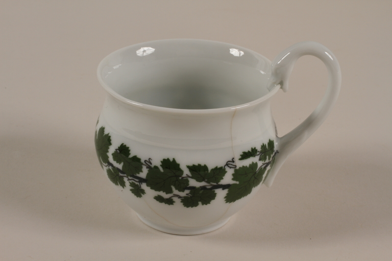 2008.204.2 front Decorated porcelain teacup saved by a German Jewish prewar refugee