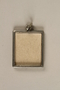 Miniature picture frame pendant made by a Jewish prisoner in Theresienstadt ghetto-labor camp