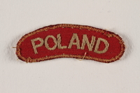 2009.23.2 front Poland uniform patch worn by a Jewish medical officer, 2nd Polish Corps  Click to enlarge