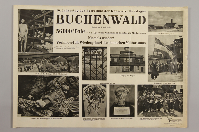 1990.305.1 front Poster for the 10th Anniversary of the Liberation of Buchenwald