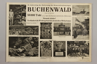 1990.305.1 front Poster for the 10th Anniversary of the Liberation of Buchenwald  Click to enlarge