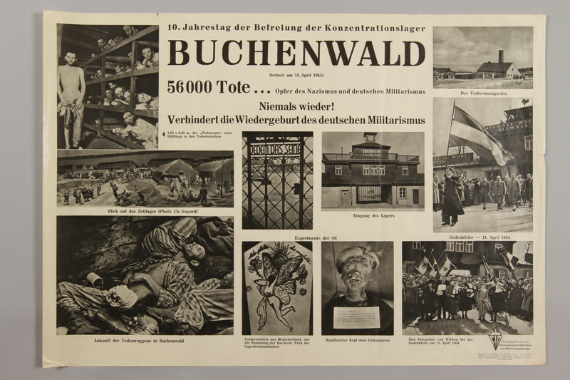1990.305.2 front Poster for the 10th Anniversary of the Liberation of Buchenwald