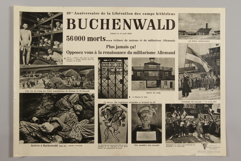 1990.305.3 front Poster for the 10th Anniversary of the Liberation of Buchenwald