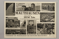 1990.305.6 front Poster for the 10th Anniversary of the Liberation of Mauthausen  Click to enlarge