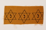 Cloth sheet with three unused Star of David badges owned by a Catholic rescuer