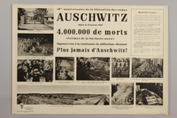 1990.305.8 front Poster for the 10th Anniversary of the Liberation of Auschwitz  Click to enlarge
