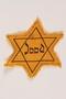 Star of David badge with Jood worn by German Jewish refugees