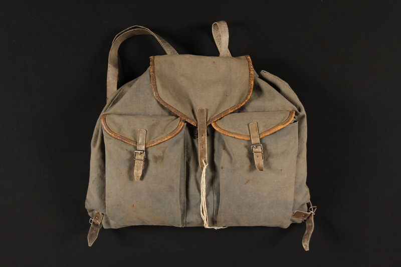 1990.307.5 front Rucksack used by a German Jewish family going into hiding