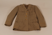 2008.180.10 front US Army officer's summer weight tunic worn by the director of the Vaad Hatzala Emergency Committee in postwar Germany  Click to enlarge