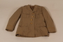 US Army officer's summer weight tunic worn by the director of the Vaad Hatzala Emergency Committee in postwar Germany