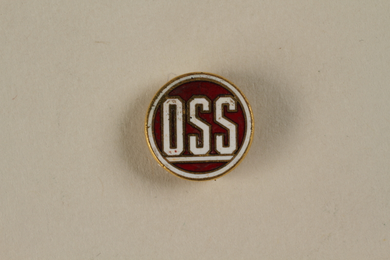 2001.62.2 front Office of Strategic Services (OSS) lapel pin
