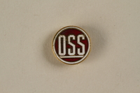 2001.62.2 front Office of Strategic Services (OSS) lapel pin  Click to enlarge