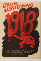 1990.333.10 front Anti-Bolshevist, Anti-Semitic 1918 Great Exhibition advertisement poster  Click to enlarge