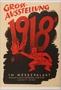 Anti-Bolshevist, Anti-Semitic 1918 Great Exhibition advertisement poster