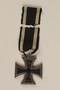 World War I Iron Cross 2nd class combatant's medal with ribbon awarded to a German Jewish soldier