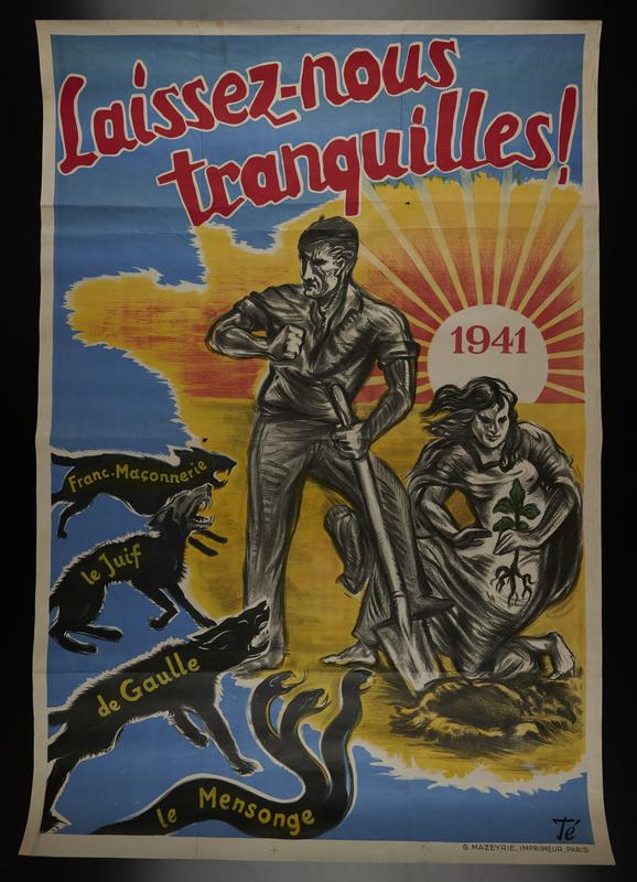 2009.213.1 front Pro-German propaganda poster warning of threats against France