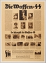 Waffen SS recruitment poster with multiple blocks of small text and photographs
