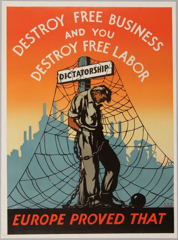 1990.333.30 front United States pro-free business and anti-dictatorship propaganda poster