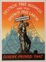 United States pro-free business and anti-dictatorship propaganda poster
