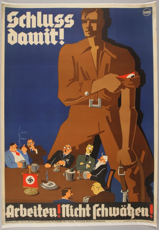 1990.333.32 front Pro-Nazi poster